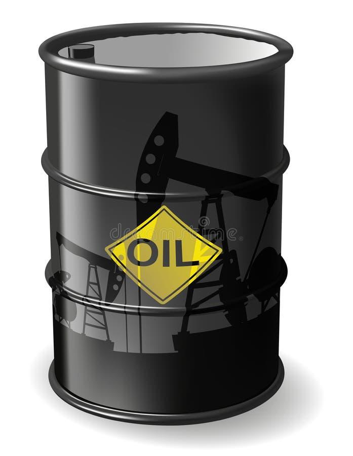 桶黑色例证油红色向量白色 皇族释放例证