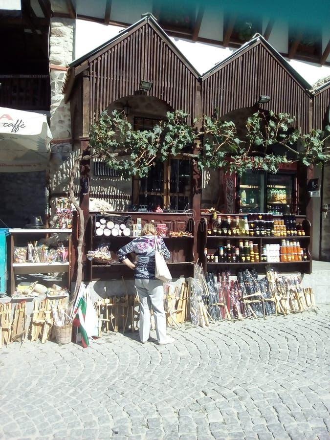 梅利尼克小镇在我的国家-保加利亚 免版税图库摄影