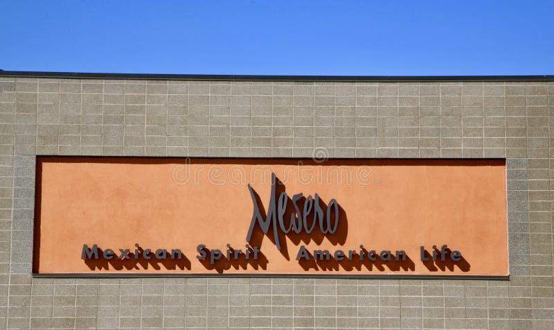 梅塞罗餐馆,达拉斯得克萨斯 免版税库存图片