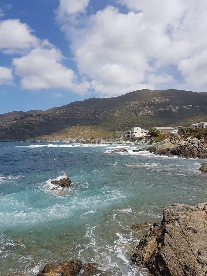 梅尔海和岩石 图库摄影