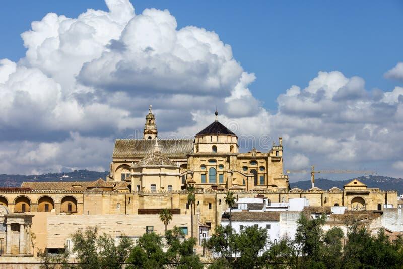 梅斯基塔清真寺大教堂在科多巴 免版税库存照片