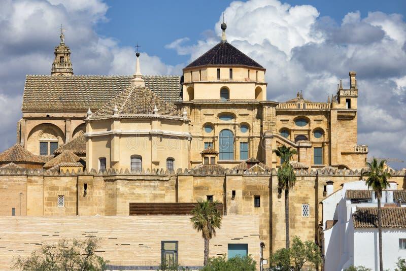 梅斯基塔清真寺大教堂在科多巴 库存照片