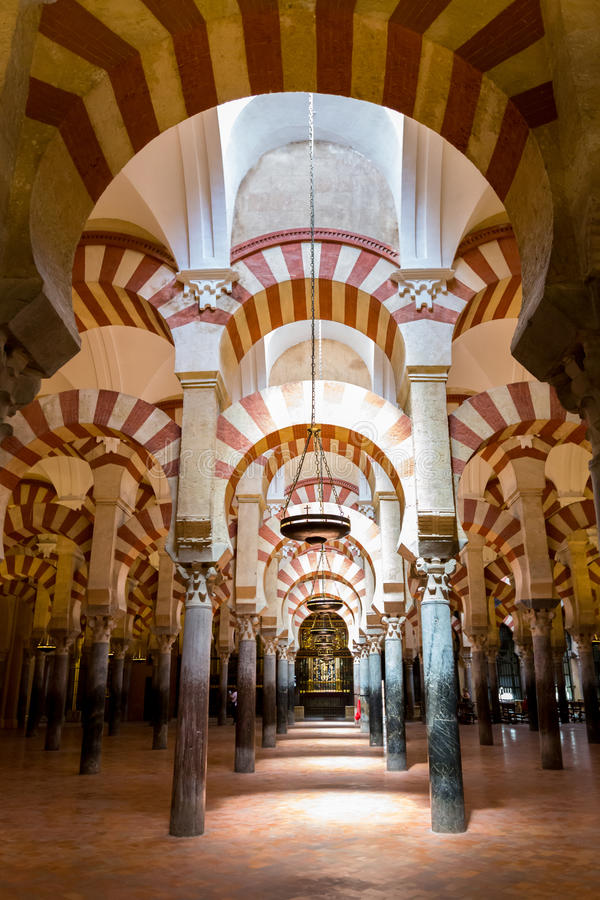 梅斯基塔清真寺大教堂科多巴西班牙 免版税库存图片