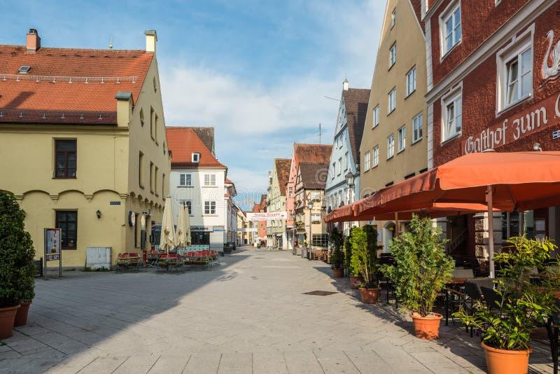 梅明根建筑学-施瓦本行政区德国 免版税图库摄影