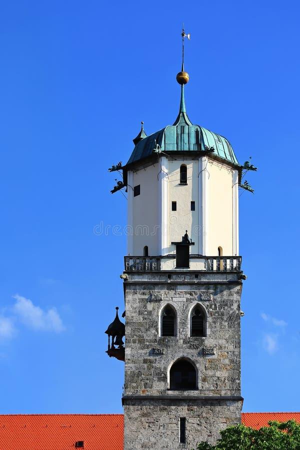 梅明根是一个城市在拜仁/德国 库存图片
