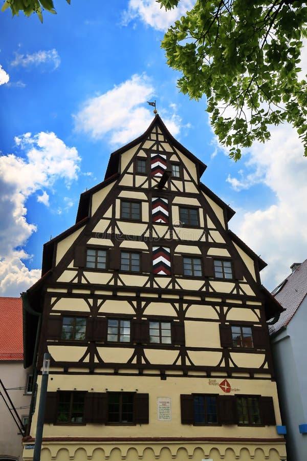 梅明根是一个城市在拜仁/德国 免版税库存照片