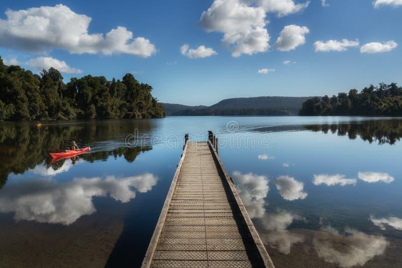 梅普里卡湖西海岸新西兰 免版税库存图片