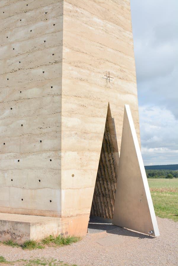 梅歇尔尼希,德国- 2015年8月15日:布鲁德克劳斯领域教堂彼得・卒姆托 免版税库存图片