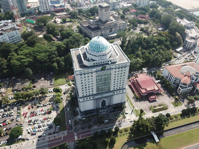 梅纳拉tabung赴麦加朝圣过的伊斯兰教徒在新山马来西亚 免版税库存照片