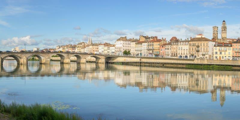 梅肯,法国都市风景  库存图片