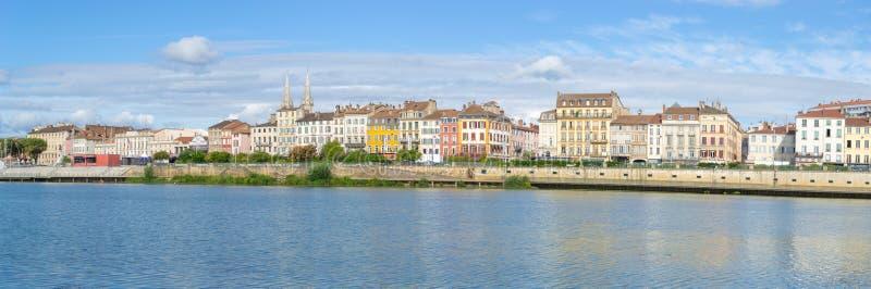 梅肯,法国都市风景  免版税库存照片