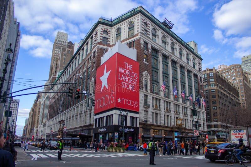梅西百货公司在纽约 图库摄影