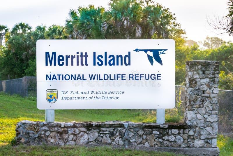 梅里特岛全国野生生物保护区 免版税图库摄影