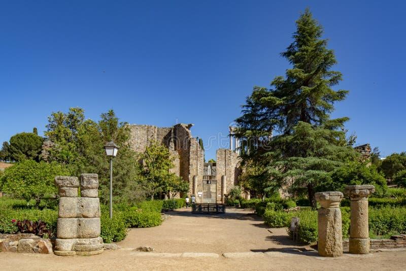 梅里达罗马废墟西班牙 库存图片