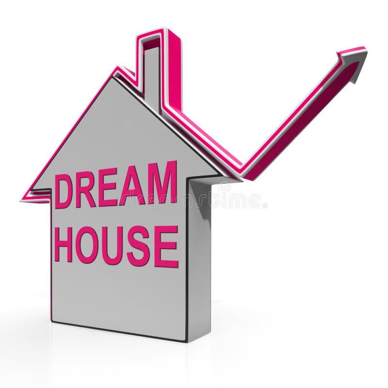 梦之家发现或建立理想的家手段 向量例证