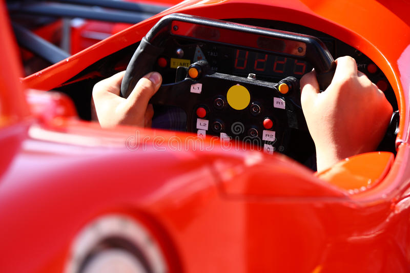 梦想中的汽车附加模拟器 免版税图库摄影