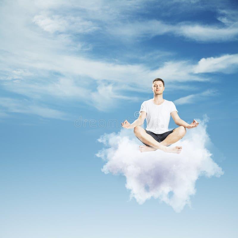 梦想和放松概念 免版税库存照片