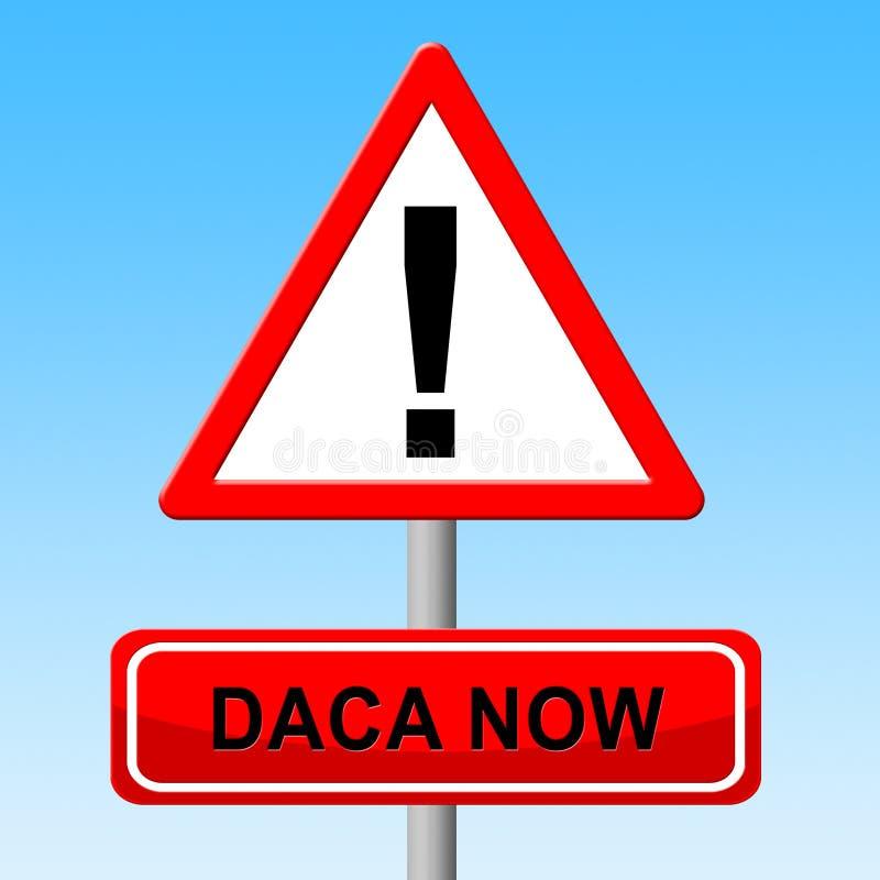 梦想家的Daca抗议成交路对公民身份-第2个例证 库存例证
