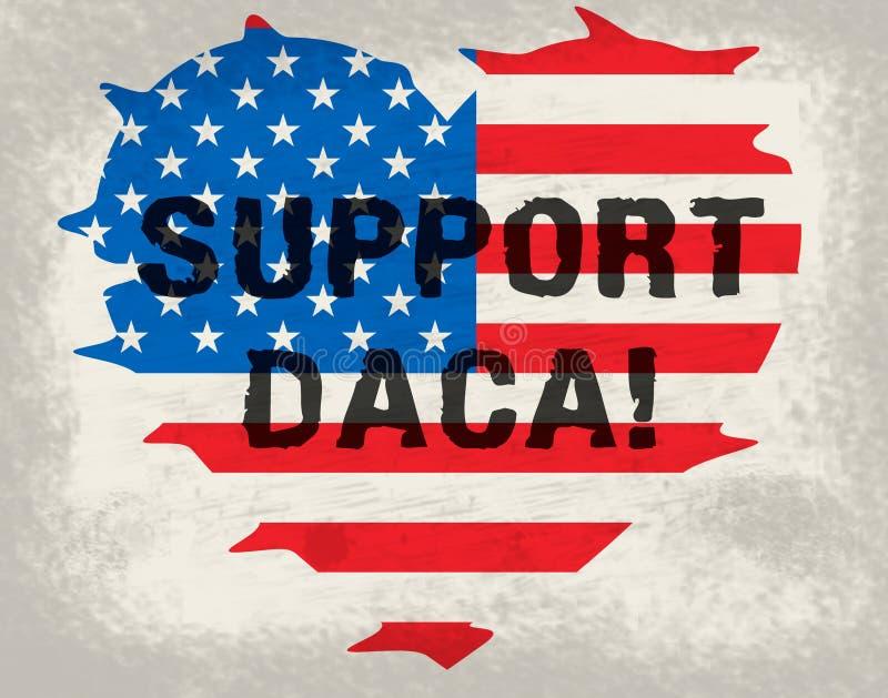 梦想家的Daca抗议成交路对公民身份-第2个例证 皇族释放例证