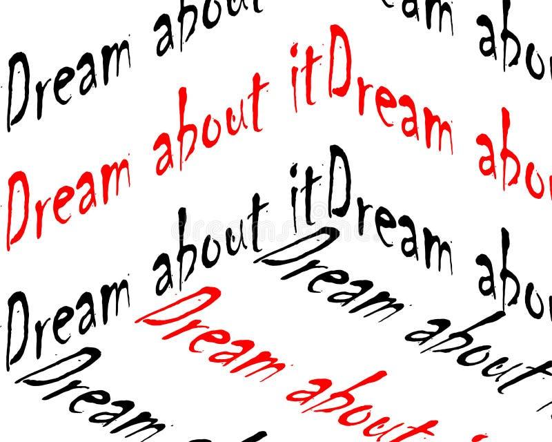 梦想对此题字 库存例证