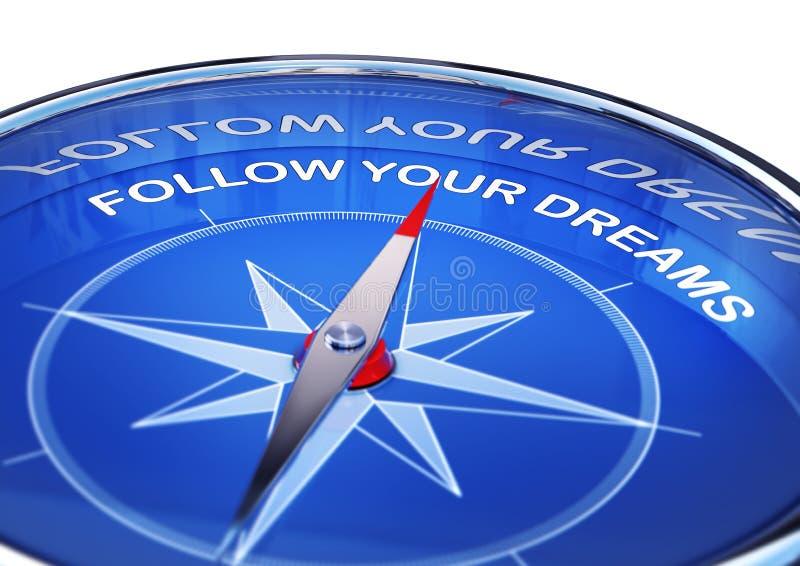 梦想按照您 向量例证