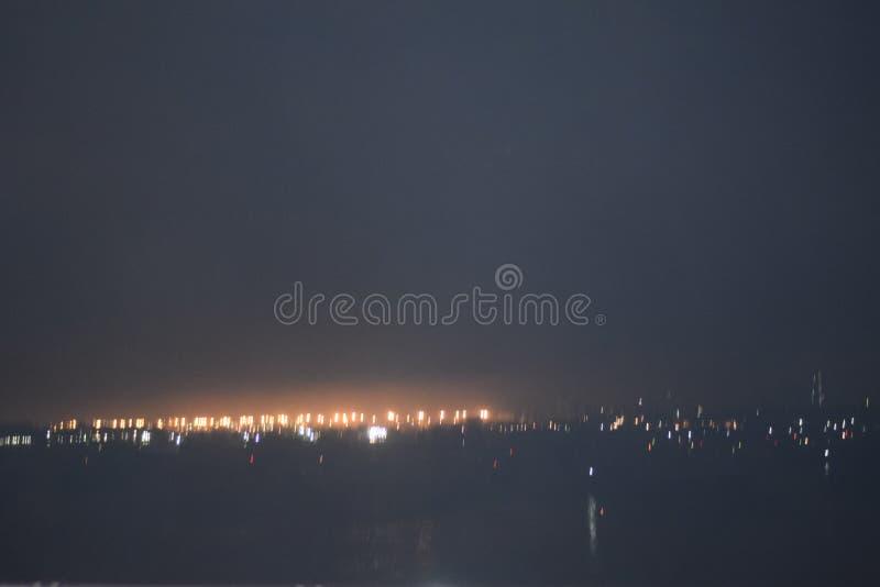 梦想有雾的城市 免版税库存图片