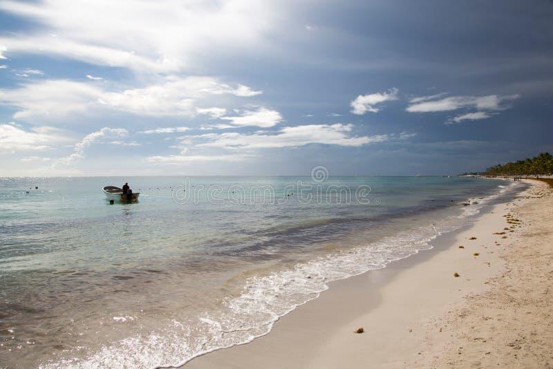 梦想海滩在多米尼加共和国 免版税库存图片