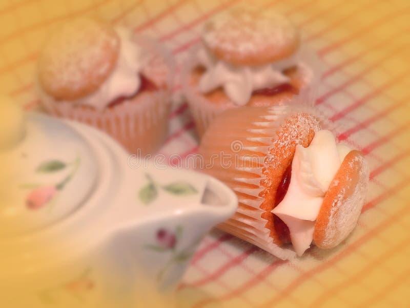 梦想的减速火箭的杯形蛋糕茶会 库存图片