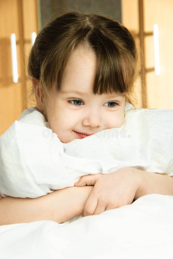 梦想的女孩枕头 免版税库存图片