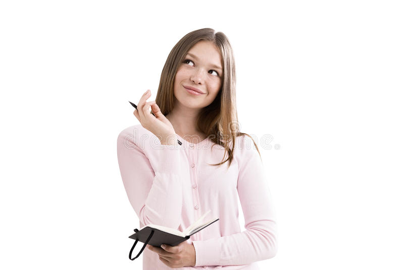 梦想的女孩 免版税库存图片
