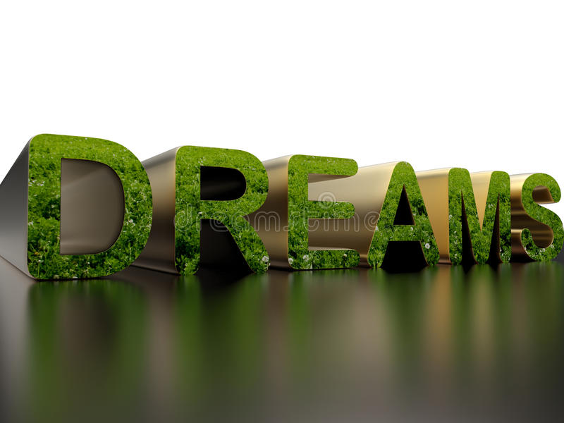 梦想-自然概念 向量例证