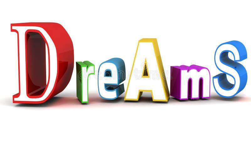 梦想 库存例证