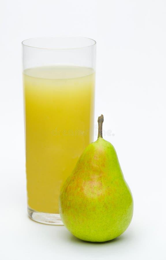梨和梨汁 免版税库存照片
