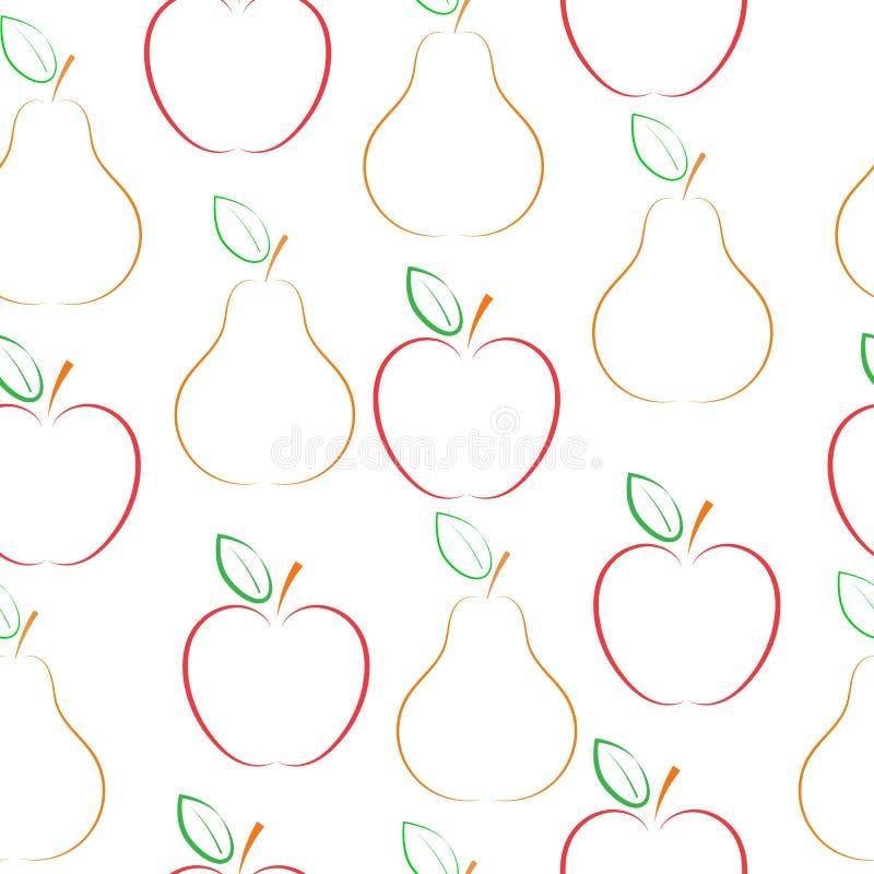 梨和苹果传染媒介样式 库存例证