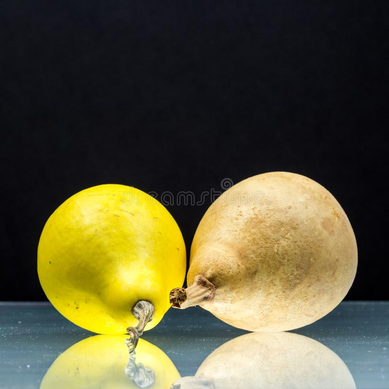 梨状的南瓜 免版税库存图片