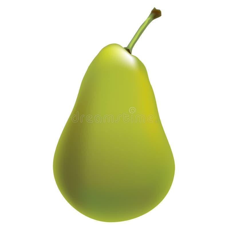 梨绿色-图表 库存例证
