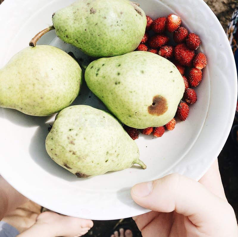 梨莓果 免版税图库摄影