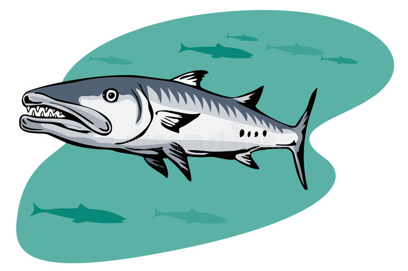梭子鱼狩猎牺牲者 皇族释放例证