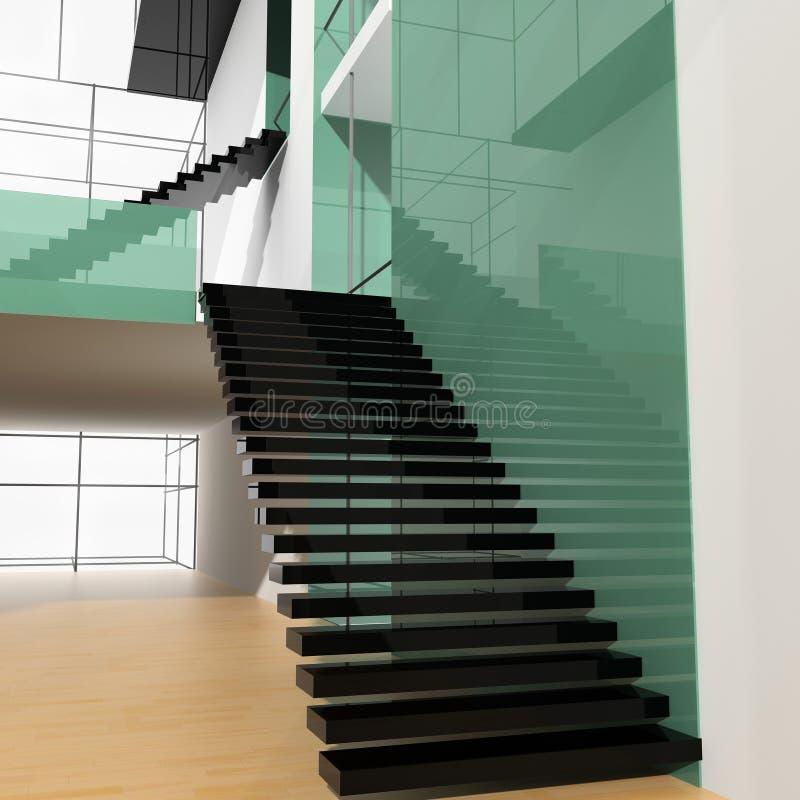 梯子办公室 向量例证