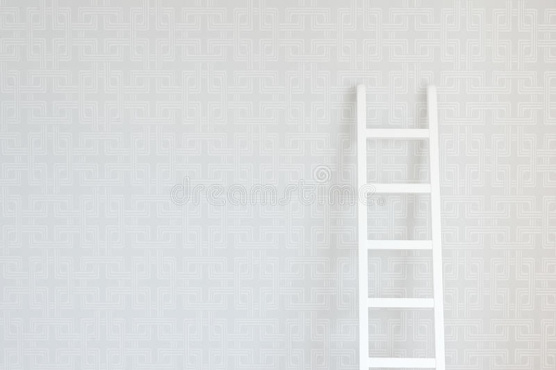梯子墙壁 库存照片