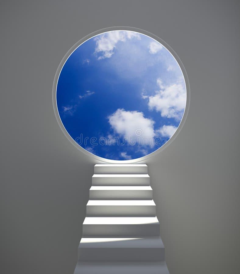 梯子天空 库存例证