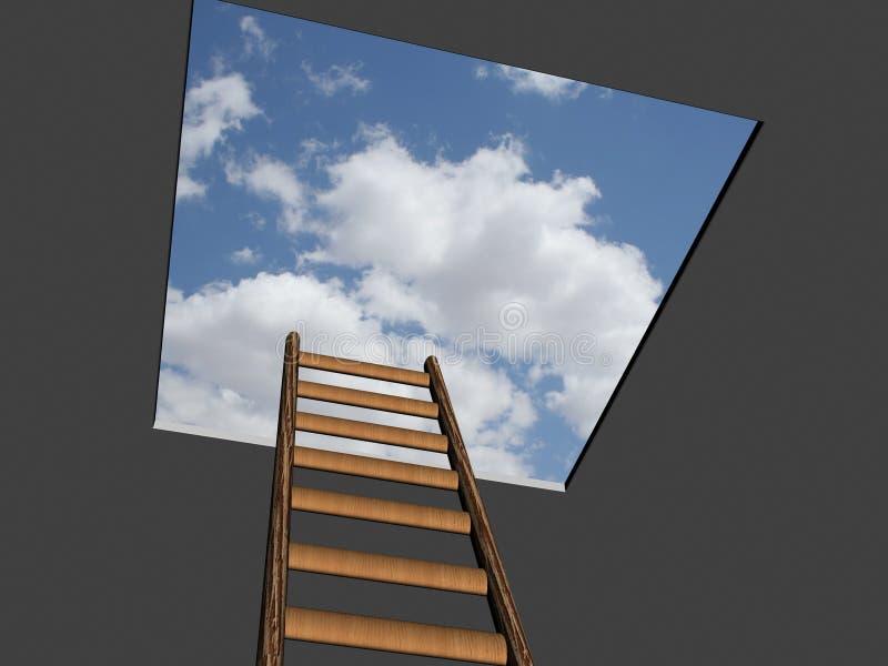 梯子成功 库存例证