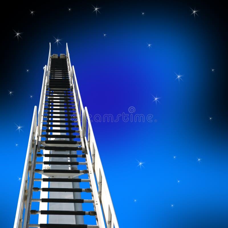 梯子成功 皇族释放例证