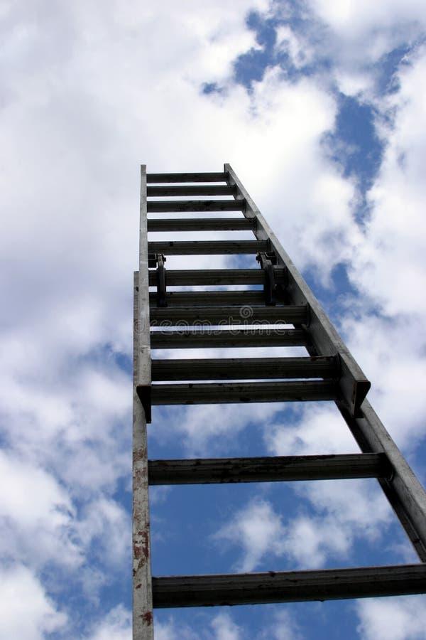 梯子成功 免版税库存图片