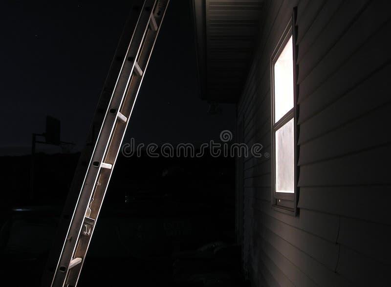 梯子晚上 免版税库存图片