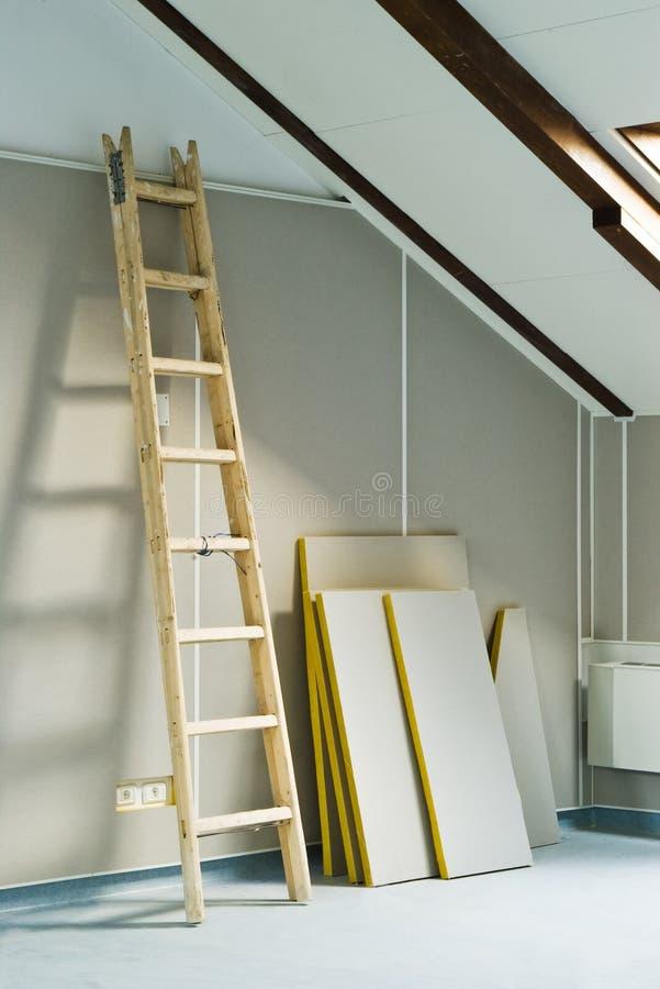 梯子步骤木头 免版税库存照片