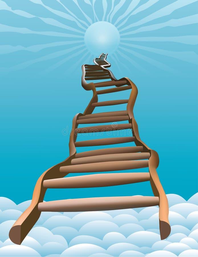 梯子绕 库存例证