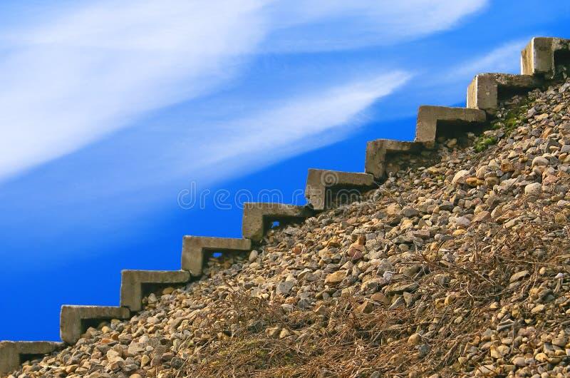 梯子顶层 库存图片