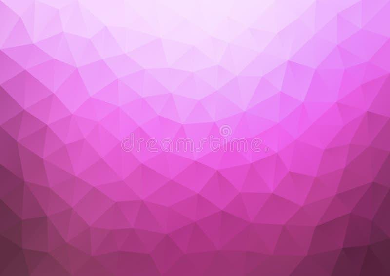 梯度几何桃红色的样式 皇族释放例证