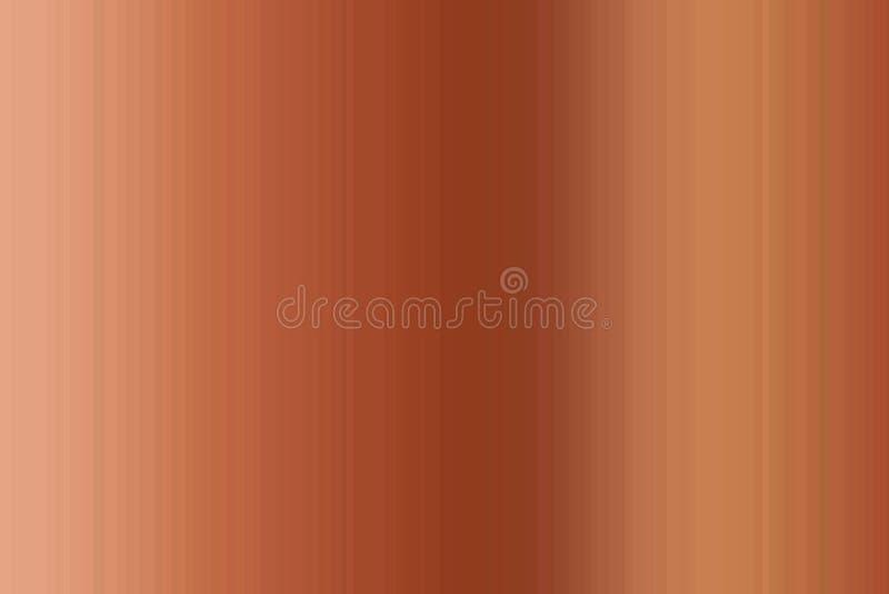 梯度古铜色棕色使迷离五颜六色的无缝的条纹样式光滑 抽象背景例证 时髦的现代趋向颜色 向量例证